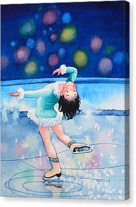 Figure Skater 16 Canvas Print by Hanne Lore Koehler