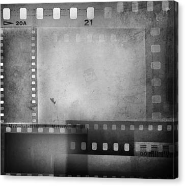 Film Negatives  Canvas Print by Les Cunliffe