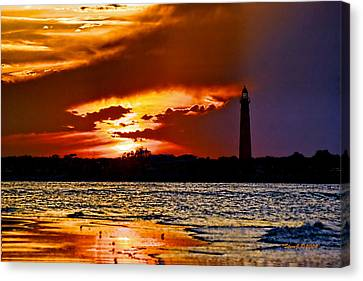 Final Sunset Ponce Lighthouse Canvas Print by Stephen  Johnson