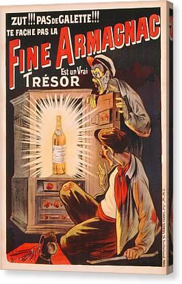 Fine Armagnac Advertisement Canvas Print by Eugene Oge