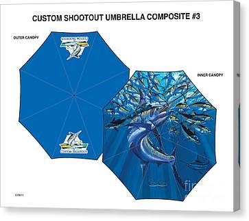 Fine Art Umbrellas Canvas Print by Carey Chen