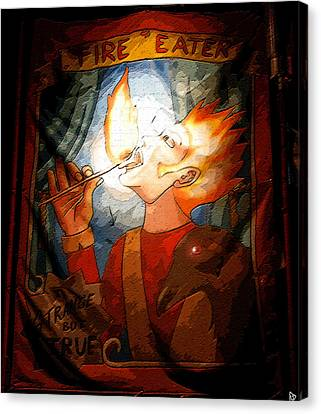 Fire Eater Canvas Print by David Lee Thompson