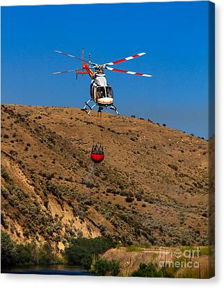 Fire Fighting Canvas Print by Robert Bales