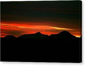 Fire In The Clouds Canvas Print by Kevin Bone