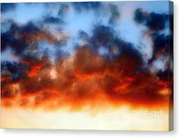 Fire In The Sky Canvas Print by Andee Design