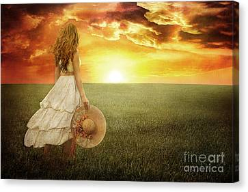 Fire In The Sky Canvas Print by Cindy Singleton