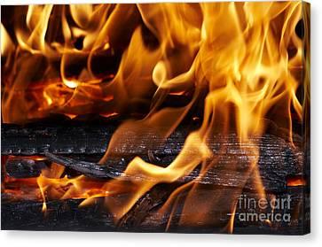 Fire Canvas Print by Michal Boubin