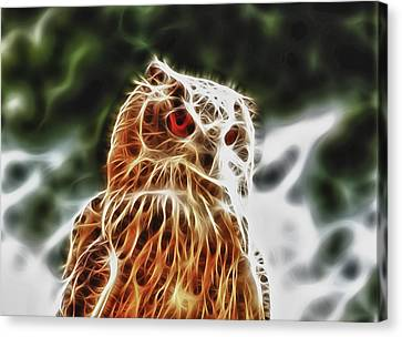 Fire Owl Canvas Print by Tilly Williams