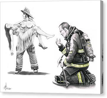 Fire Rescue Canvas Print by Murphy Elliott
