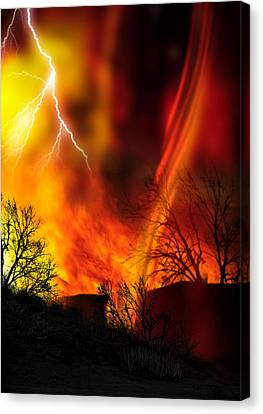 Fire Whirl, Artwork Canvas Print by Victor Habbick Visions