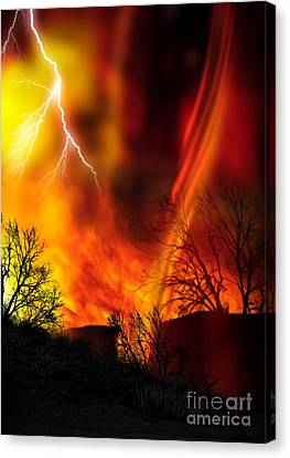 Fire Whirl Canvas Print by Victor Habbick Visions and Photo Researchers