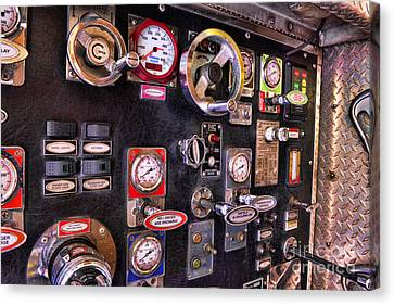 Fireman - Discharge Panel Canvas Print by Paul Ward