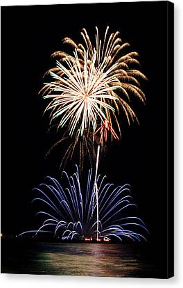 Fireworks  Abound Canvas Print by Bill Pevlor