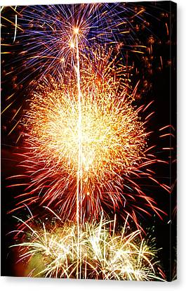 Fireworks_1591 Canvas Print by Michael Peychich