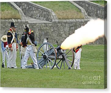 Firing Cannon Canvas Print by JT Lewis