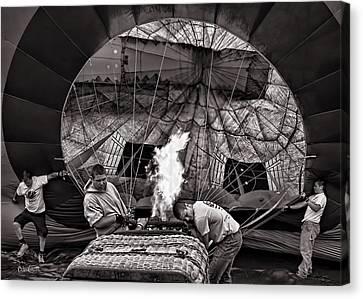 Firing The Burners Canvas Print by Bob Orsillo