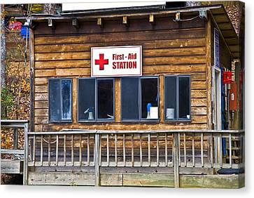 First Aid Station Canvas Print by Susan Leggett