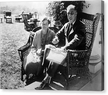 First Lady Eleanor Roosevelt, President Canvas Print by Everett
