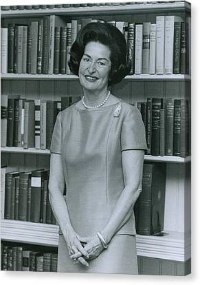 First Lady, Lady Bird Johnson, In 1964 Canvas Print by Everett