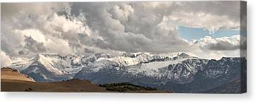 First Snow 2012 Rocky Mountains Canvas Print by Larry Darnell