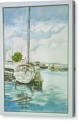 Fish Creek Harbor Canvas Print by Laurel Fredericks