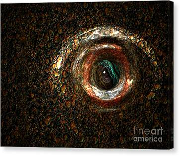 Fish Eye Canvas Print by Jan Willem Van Swigchem