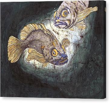 Fish Tales Canvas Print by Shari Carlson