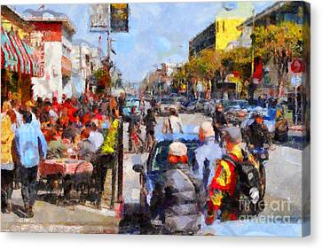 Fishermans Wharf San Francisco California . Painterly . 7d14485 Canvas Print by Wingsdomain Art and Photography
