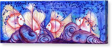 Fishes Canvas Print by Hong Diep Loi