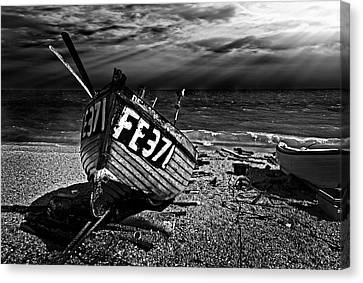 fishing boat FE371 Canvas Print by Meirion Matthias