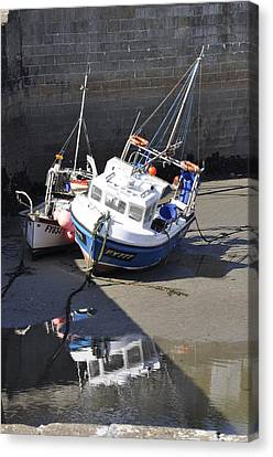 Fishing Boats Canvas Print by Charlotte May-Photography