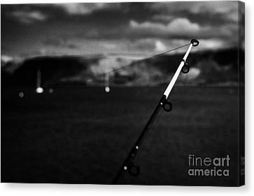 Fishing On The County Antrim Coast Northern Ireland Canvas Print by Joe Fox