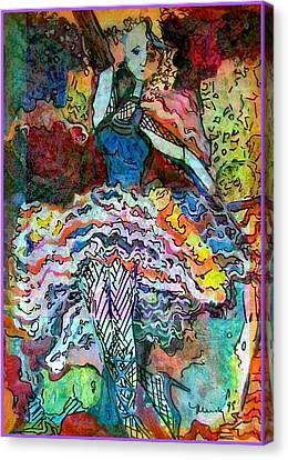 Flamenco Dancer Canvas Print by Mindy Newman