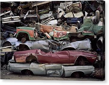 Flattened Car Bodies Canvas Print by Dirk Wiersma