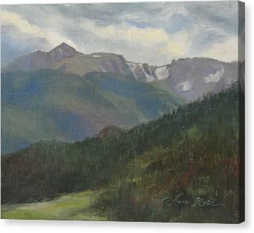 Flattop Mountain Canvas Print by Anna Rose Bain
