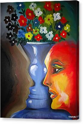 Flip-face Ambiguity Canvas Print by Shakhenabat Kasana