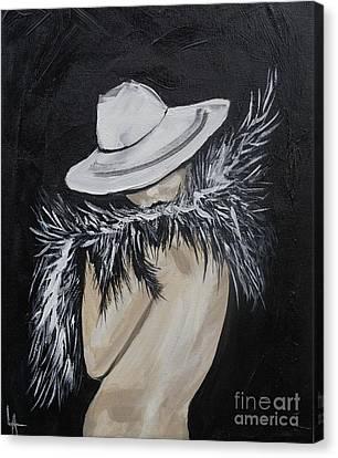 Flirt Canvas Print by Leslie Allen