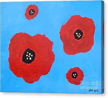 Floating Flowers Canvas Print by Alys Caviness-Gober