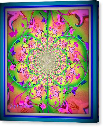 Floral Fractal Canvas Print by Jan Steadman-Jackson