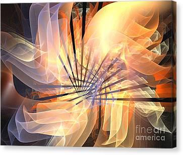 Floral Supernova Canvas Print by Kim Sy Ok