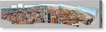 Florence Italy - Panorama -01 Canvas Print by Gregory Dyer