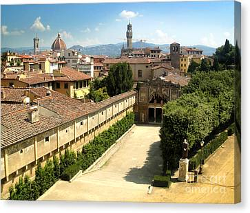 Florence Italy - Pitti Palace - 02 Canvas Print by Gregory Dyer