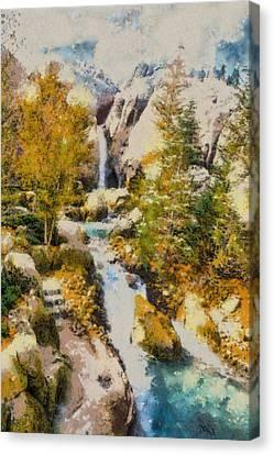 Florida Fall - Digital Painting Canvas Print by Nicholas Evans