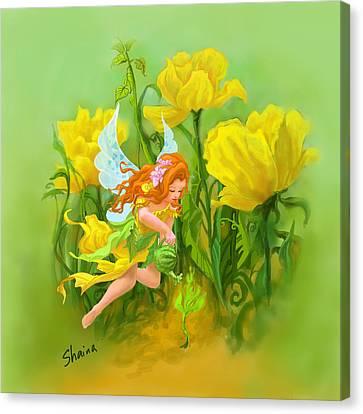 Flower Fairy Canvas Print by Shaina  Lee