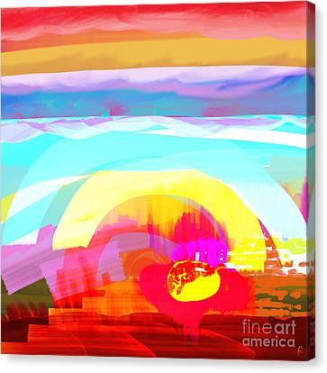 Flower Impact Canvas Print by MURUMURU By FP