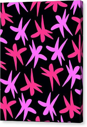 Flower Stars  Canvas Print by Louisa Knight