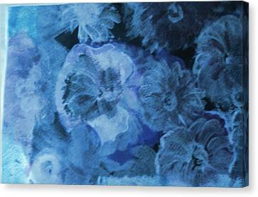 Flowers With Muted Hues Canvas Print by Anne-Elizabeth Whiteway
