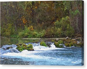 Flowing Water Canvas Print by Julie Grace