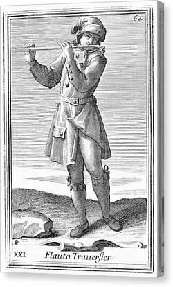 Flute, 1723 Canvas Print by Granger