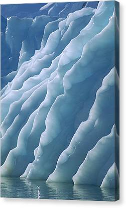 Fluted Edges Of Newly Rolled Canvas Print by Colin Monteath